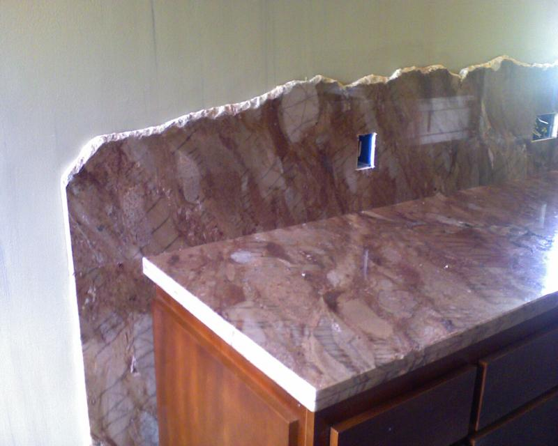 flat polished granite
