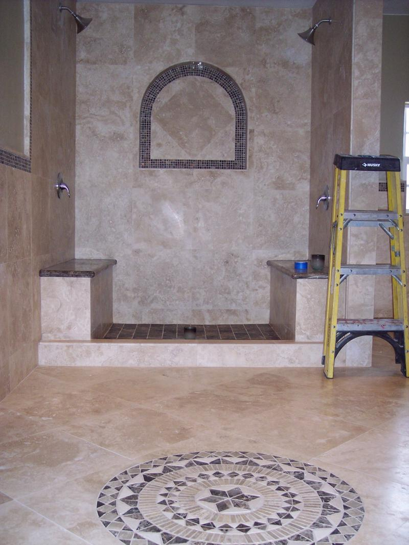Custom Tile Work : Pietra custom tile works bathroom pictures